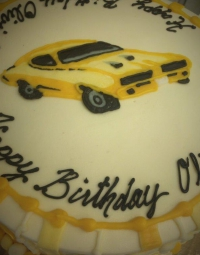 Yellow Car Cake