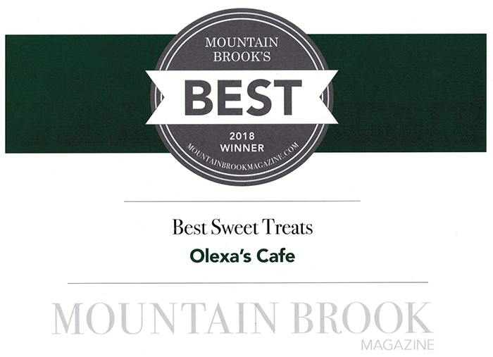 Mtn Brook Mag Best Sweet Treats